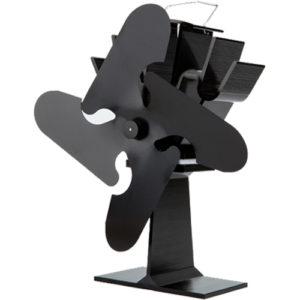 Stove Fan 4 Blade Black 23cm