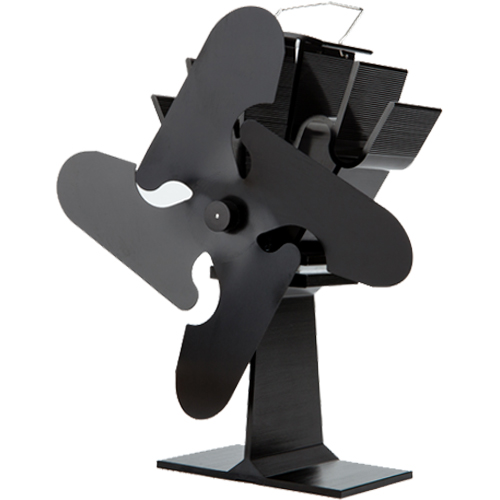 Stove Fan 4 Blade Black 23cm