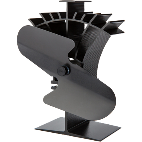 Stove Fan 2 Blade Black 19cm Compact