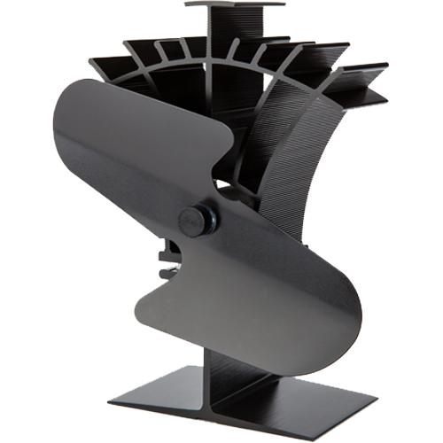 Stove Fan 2 Blade Black 19cm Compact