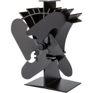 Stove Fan 4 Blade Black 19cm Compact