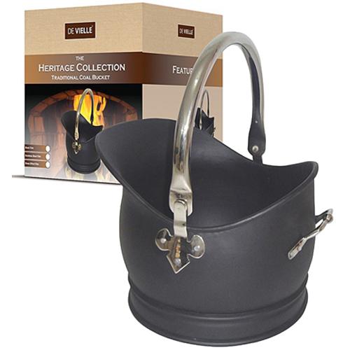 DV Heritage Traditional Coal Bucket - Stainless Steel Trim - Medium