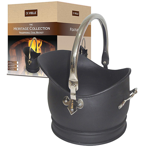 DV Heritage Traditional Coal Bucket - Stainless Steel Trim - Large